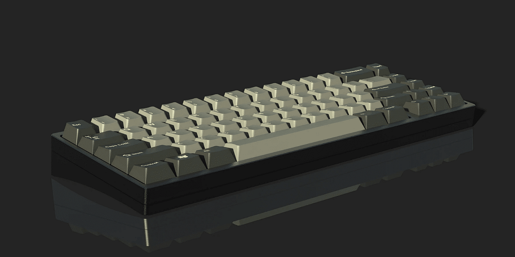 A side-on view of the KBDfans KBD67v2 MKII, the best of the best 65% mechanical keyboards