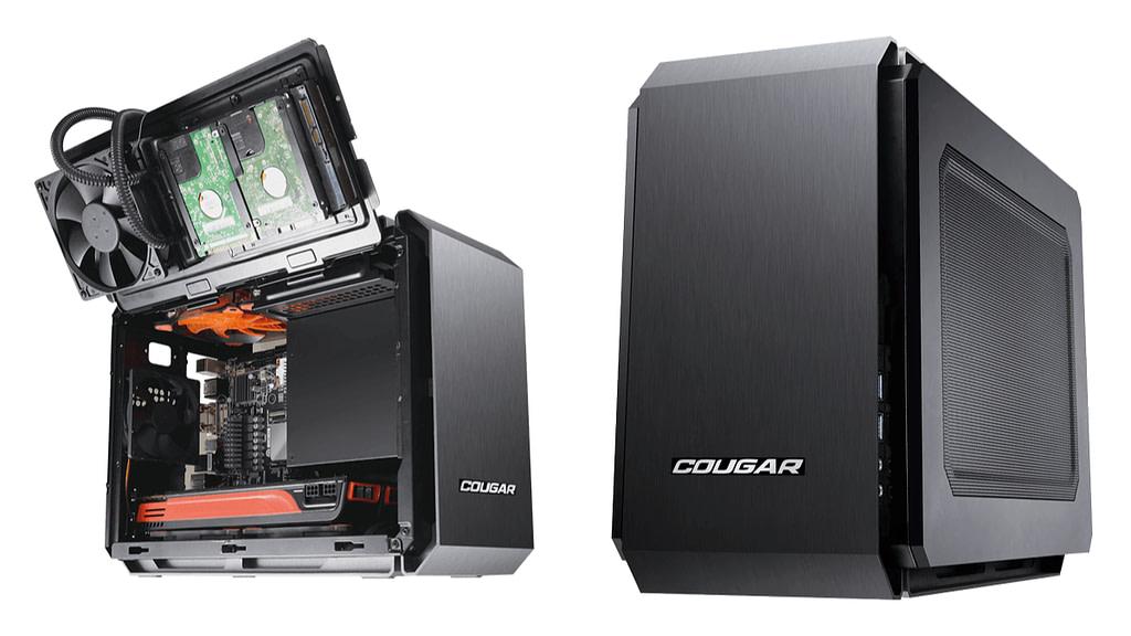 The Cougar QBX mini-ITX case, both internal and external