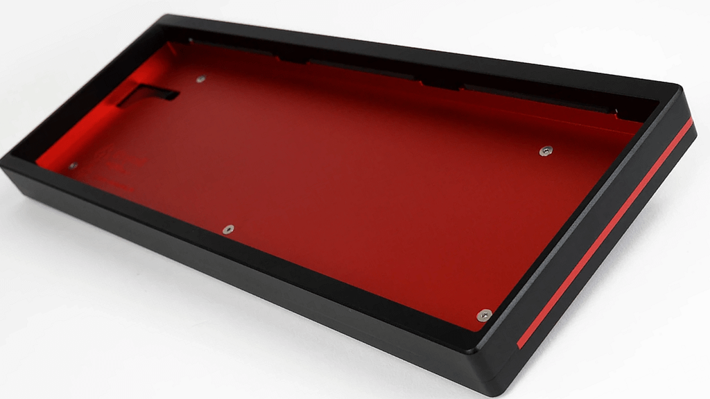 Red and Black KeyCult No.1/60 case without mounting plate or PCB installed