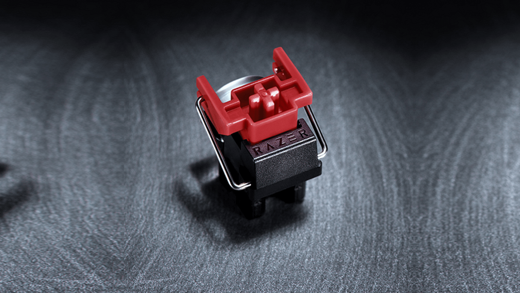 Razer's silent red linear optical switches
