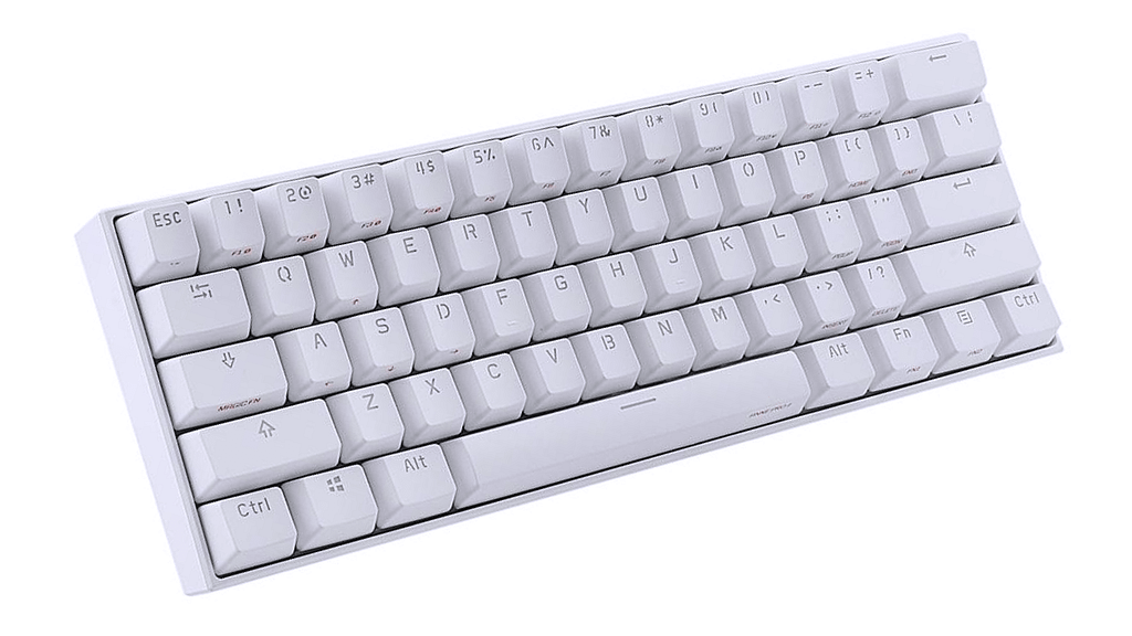Minimal White Anne Pro2 with backlighting off