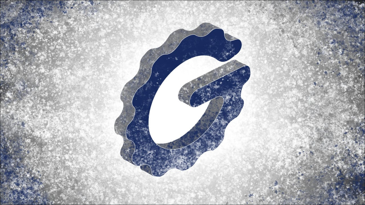 Blue and white paint splattered abstract Good Gaming Gear logo