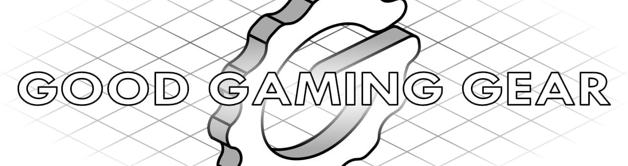 Isometric Good Gaming Gear Logo with grid background for Affiliate Disclosure